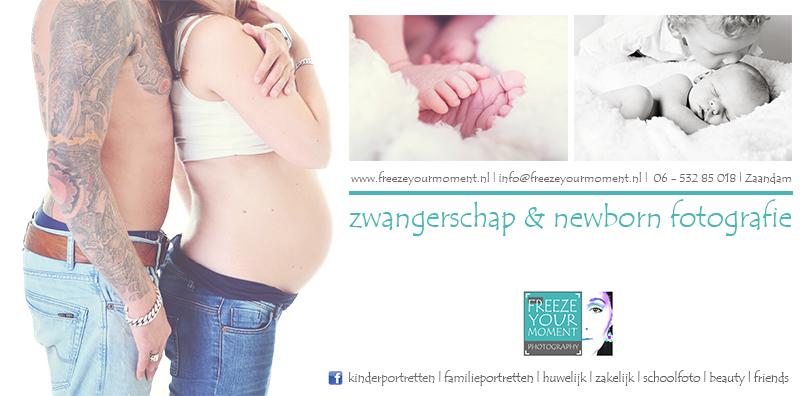 advertentie Newborn zwangerschap